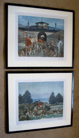 Sir Alfred Munnings -The Belvoir – 'A Hunting Morning at the Kennels' and 'Taking Hounds to Cover'