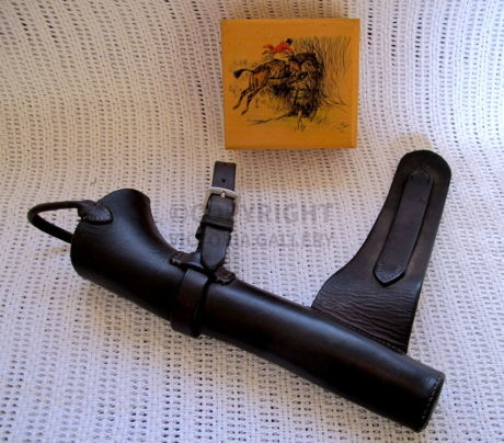 Vintage Bespoke Leather Horn Holder