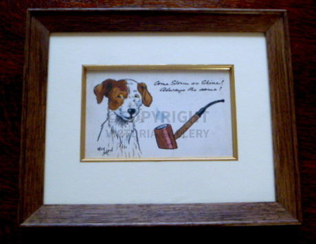 Rare Antique Cecil Aldin Terrier Postcard