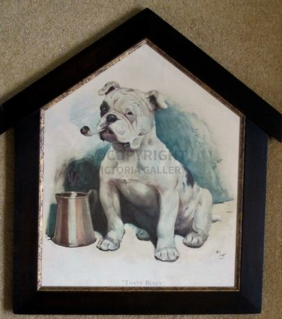 'That's Bully' in Kennel frame by Cecil Aldin