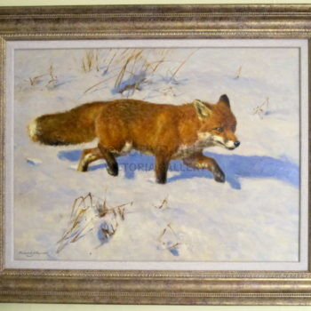 Original oil on canvas 'Snow Patrol' by Frederick Hayward
