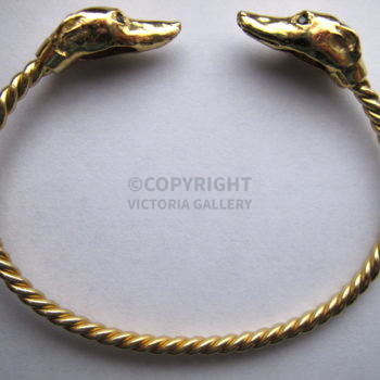 Harriet Glen Stunning Gold Greyhound Bangle