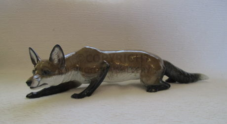 Rare Rosenthal 'Creeping Fox' by Franz Diller
