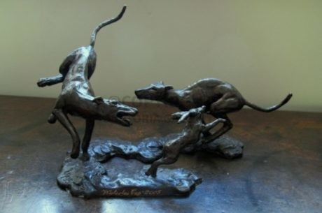 Coursing – 'The Waterloo Cup 2005' Commemorative Bronze Sculpture