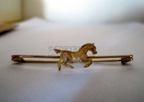 Gold Galloping Horse Stock Pin