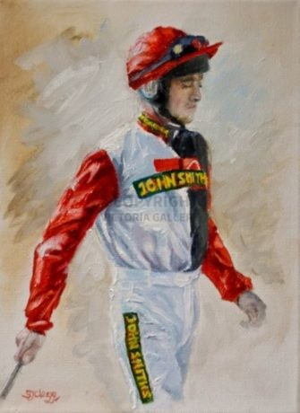 RUBY WALSH' – Oil by Sarah Clegg