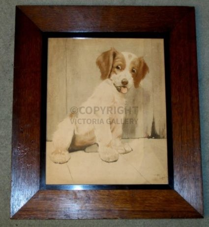 RARE Pair of Cecil Aldin Terriers – LOST & WHO'S WAITING (1)