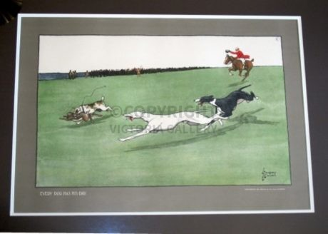 'Every Dog Has His Day'  – Coursing – c1902 by L Thackeray & L. Edwards