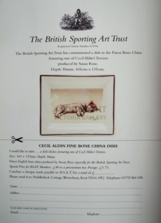 The BSAT Cecil Aldin – Sealyham Terrier Dish