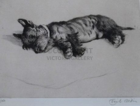 'After Dinner Rest A While' Scottie Etching by Cecil Aldin