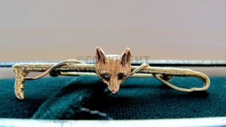 Rosemary Hetherington Gold Fox Stock Pin