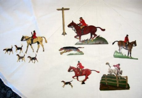 Set of Miniature Hunting Ivorenes used by Cecil Aldin