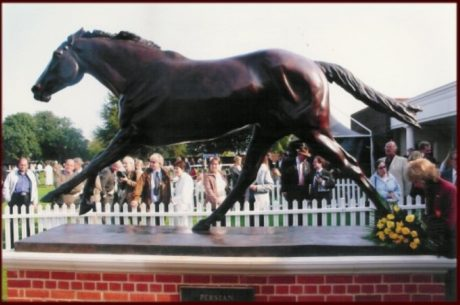 'Persian Punch' at Newmarket by Philip Blacker