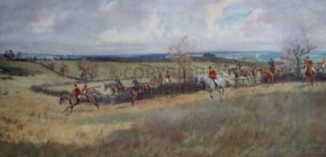 The Quorn at Hoby Vale – Signed by Lionel Edwards