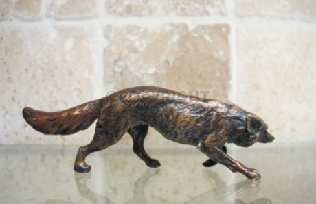 NEW – Bronze Stalking Fox with Patination (2)