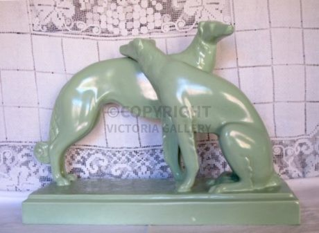 Pair of French Art Deco Borzoi c1930
