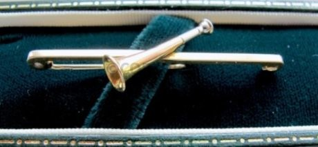 9ct Gold Edwardian Hunting Horn Stock Pin