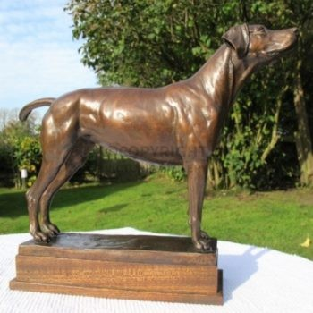 Outstanding Bronze Foxhound 'Sixpence' by Juliet Cursham