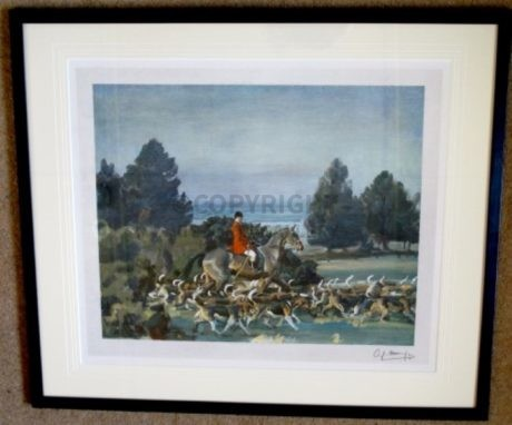 Sir Alfred Munnings Signed 'Taking Hounds to Cover'