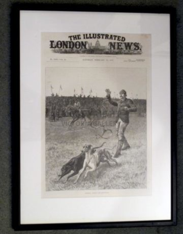 S T Dadd Antique Coursing Engraving 'Slipping the Greyhounds'