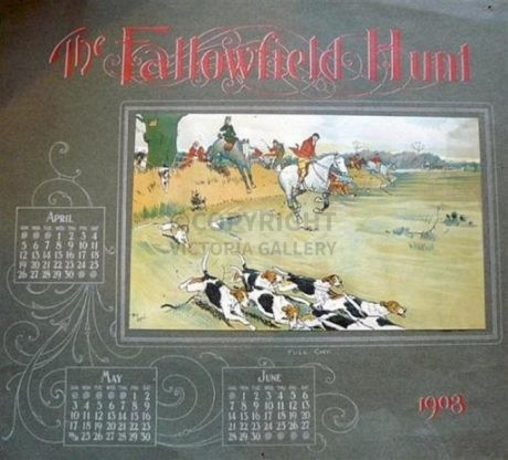 'FALLOWFIELD HUNT CALENDAR 1903'