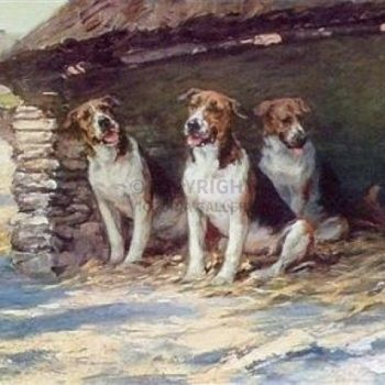 'The Long Vacation' – Foxhounds by Maud Earl