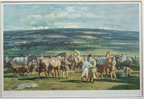 'Cheltenham – In the Saddling Paddock – March Meeting'  by Sir Alfred Munnings