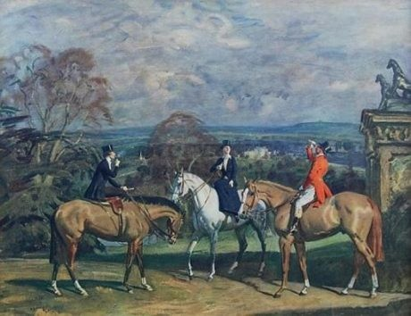 'HIS OLD DEMESNE' by Sir Alfred Munnings