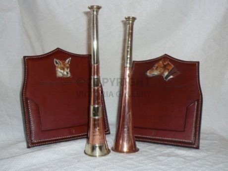 HUNTING HORNS & BESPOKE LEATHER HUNTING APPOINTMENT HOLDERS