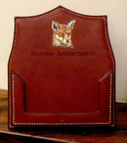 Bespoke Leather Hunting Appointment Holder – Exquisite!