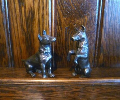 Pair of Bronze Jack Russells by Robert Crutchley