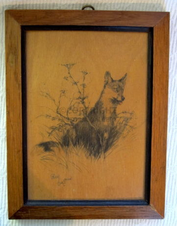 Cecil Aldin – Fox on panel