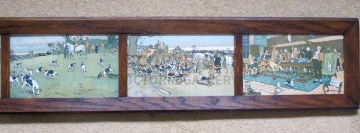 Full set of miniature Fallowfield Hunt by Cecil Aldin