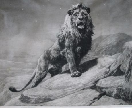 'The King' SAP Etching on Vellum by Herbert Thomas Dicksee
