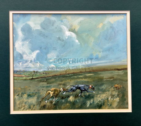 Michael Lyne – Original watercolour ' Hare Coursing'