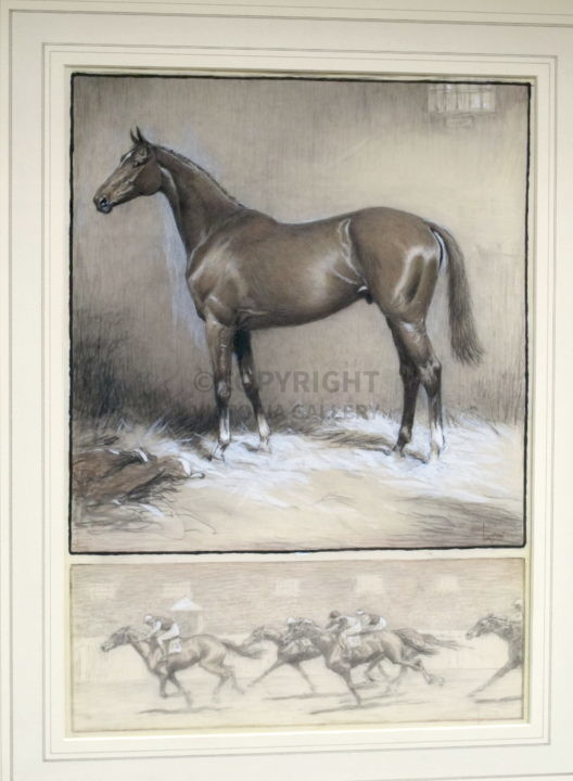 Cecil Aldin. Orig pencil, pastel and heightened with white on Ivorene. 'Right Royal'