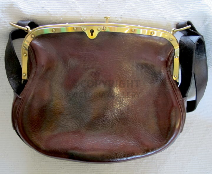 Victorian Leather & Brass Post Bag. c1880