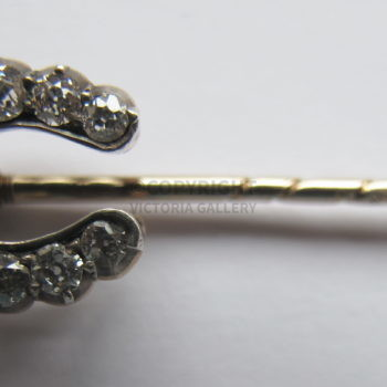 Antique Diamond Horseshoe Stick Pin