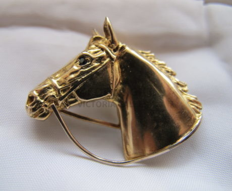 Harriet Glen 9ct Gold Horse's Head Brooch