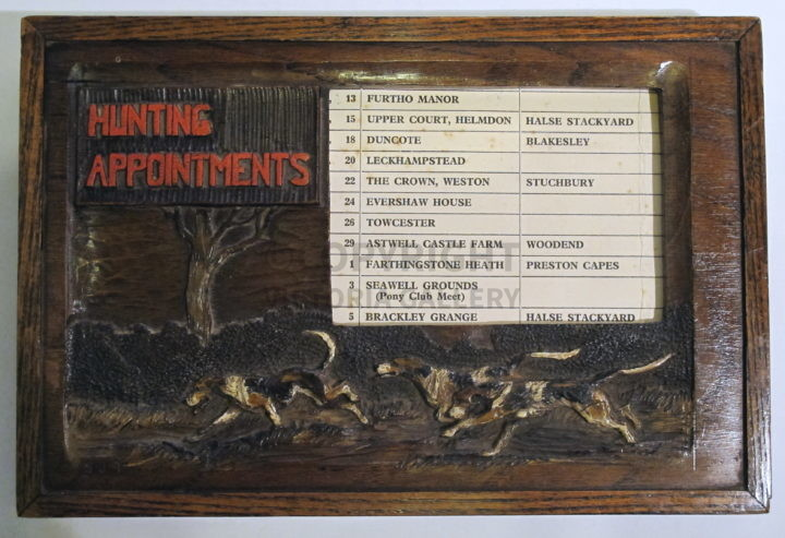 Swaine & Adeney Hunting Appointments Holder. c1935.