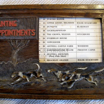 Swaine & Adeney Oak Hunting Appointments Holder