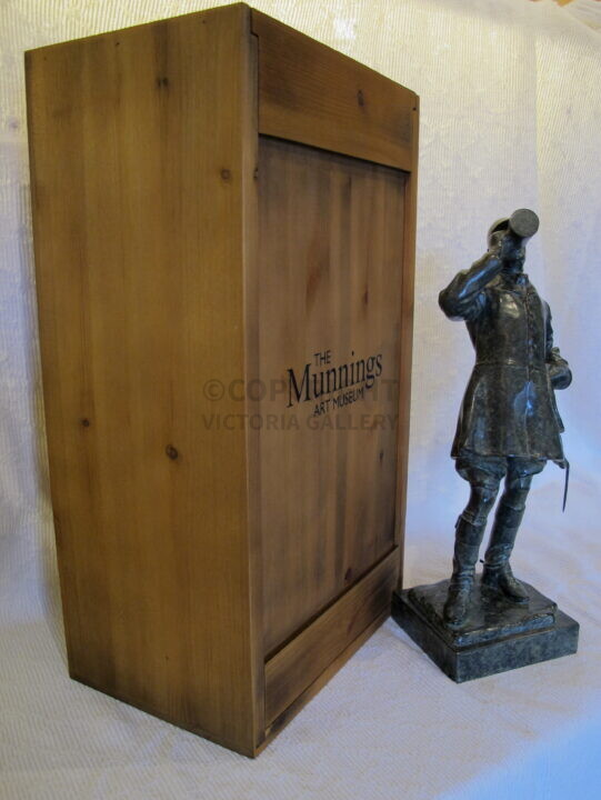 The Munnings Art Museum. Ltd ed. bronze by Edwin Witney-Smith 'The Huntsman' Original c1908