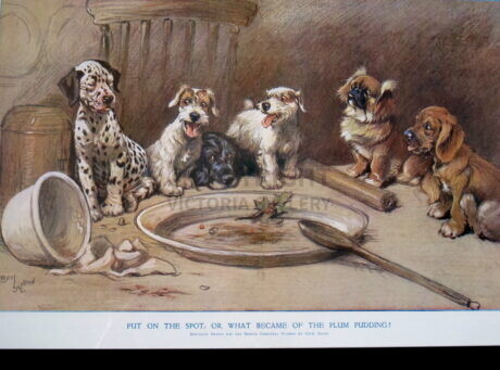 Cecil Aldin – 'Put on the spot, or, What became of the Plum Pudding'